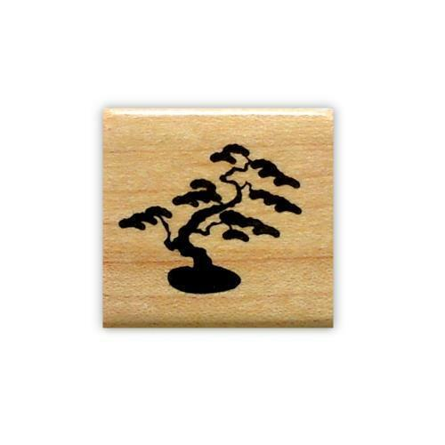 scene building tiny BONSAI Tree Japanese mounted rubber stamp Asian accent #12