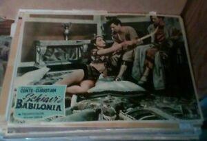 SCHIAVI-DI-BABILONIA-fotobusta-piccola-originale-1954-tipo-B