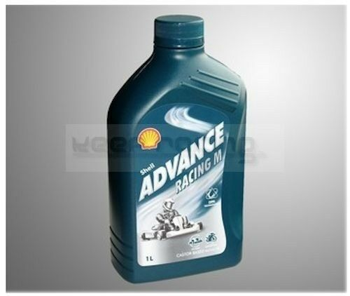 12 x Shell Advance Racing M, 2-stroke oil for Karts SAE 30, 1 LITRE, NEW