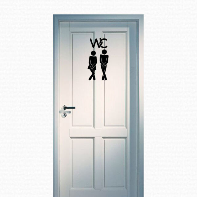 WC Türaufkleber Mann Frau Toilette Bad Aufkleber +147+