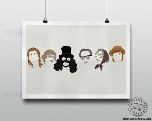 LEAGUE OF GENTLEMEN Minimal Heads Poster Print Posteritty Royston Vasey Tubbs