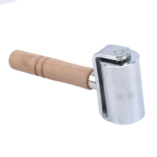 Wood Handle Design Steel Leather Rolling Craft Roller Leathercraft Tool 8C