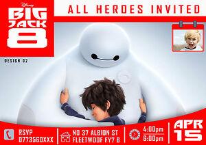 Image Is Loading Personalized Birthday Invitations BIG HERO 6 Disney Movie
