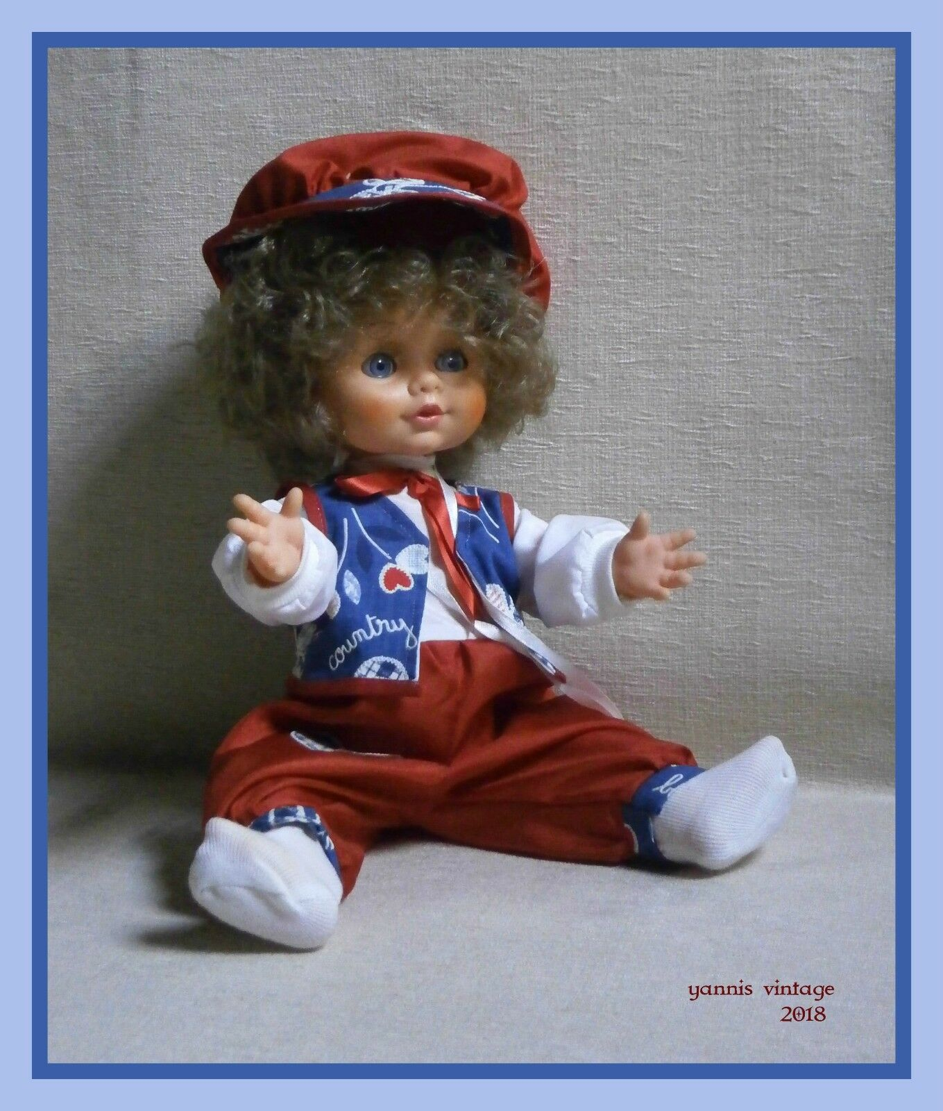 Denis  Nuovo con Scatola Boy bambola  liacopoylos B O realizzato in Grecia anni'90 GRECO VINTAGE RARE  grandi risparmi