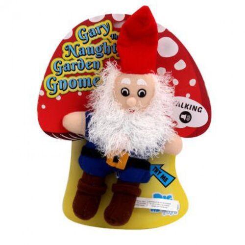 BIGMOUTH GARY THE NAUGHTY GNOME GARDEN GNOME TALKING PLUSH DOLL GIFT GAG PRANK