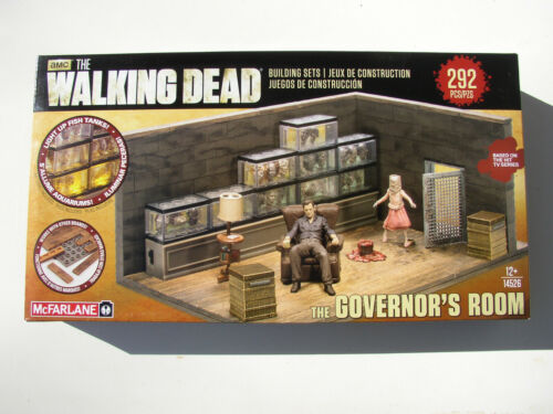 amc THE WALKING DEAD McFARLANE GOVERNOR'S ROOM BUILDING SETS NEW MIB 292 PIECES!