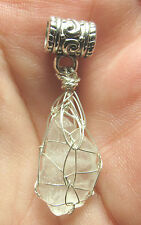 Cat's Eye Petalite Sterling Silver Hand Wrapped Crystal Angel Pendant #25