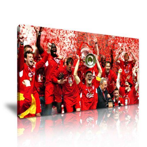 Steven gerrard liverpool champions toile murale art photo print 60x30cm