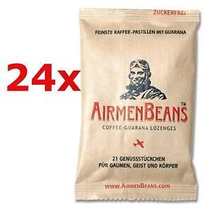 Airmen-Beans-24x-caffe-tavolette-GUARANA-504-ST-caffeina-zucchero-airmenbeans-libero