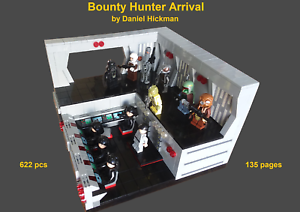 custom-Lego-Star-Wars-Bounty-Hunter-Arrival-instruction-manual-only