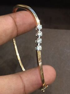 0-39-Cts-Round-Brilliant-Cut-Natural-Diamonds-Bangle-Bracelet-In-Fine-14K-Gold