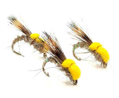 BALLOON Caddis SEDGE Dry Flies 3 Pack Foam Emerger Trout Fly Fishing # 12,14,16