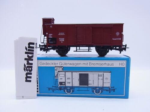 KV 510Schöner Märklin H0 4695 gedeckter Güterwagen mit Bremserhaus DR in OVP