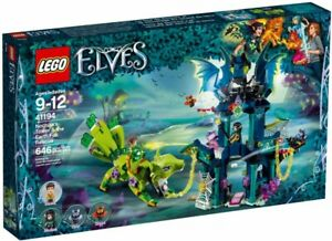 LEGO-Elves-Noctura-039-s-Tower-amp-the-Earth-Fox-Rescue-2018-41194-Kit-646-Pcs