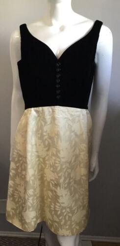 Vintage 50s 60s Velvet Top Brocade Skirt Party Dre