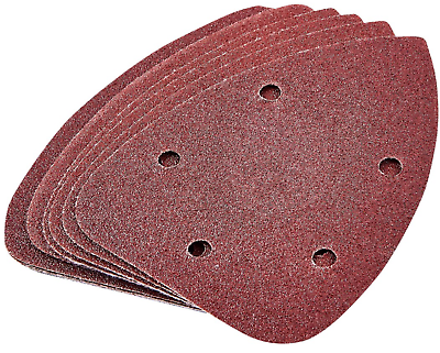 Delta Sanding Pads Sheets Hook /& Loop Velcro Triangle Pack of 10 P80 Grit