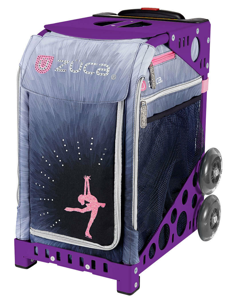 ZUCA Bag Ice Dreamz LUX Insert & Purple Frame w Flashing Wheels - FREE CUSHION