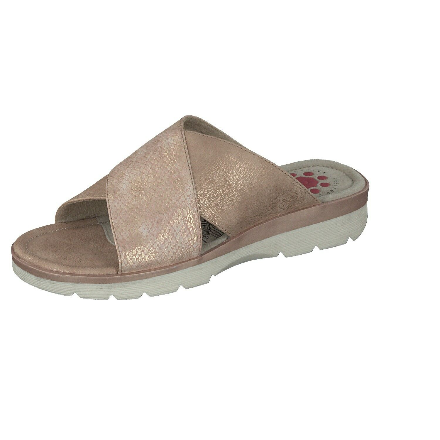 RELIFE Ladies shoes Leisure Mules Slippers 8717-17702-04 in pink Shiny