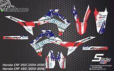 Honda CRF 250 CRF450 2013 2016 MX motocross graphics kit decals stickers GEICO