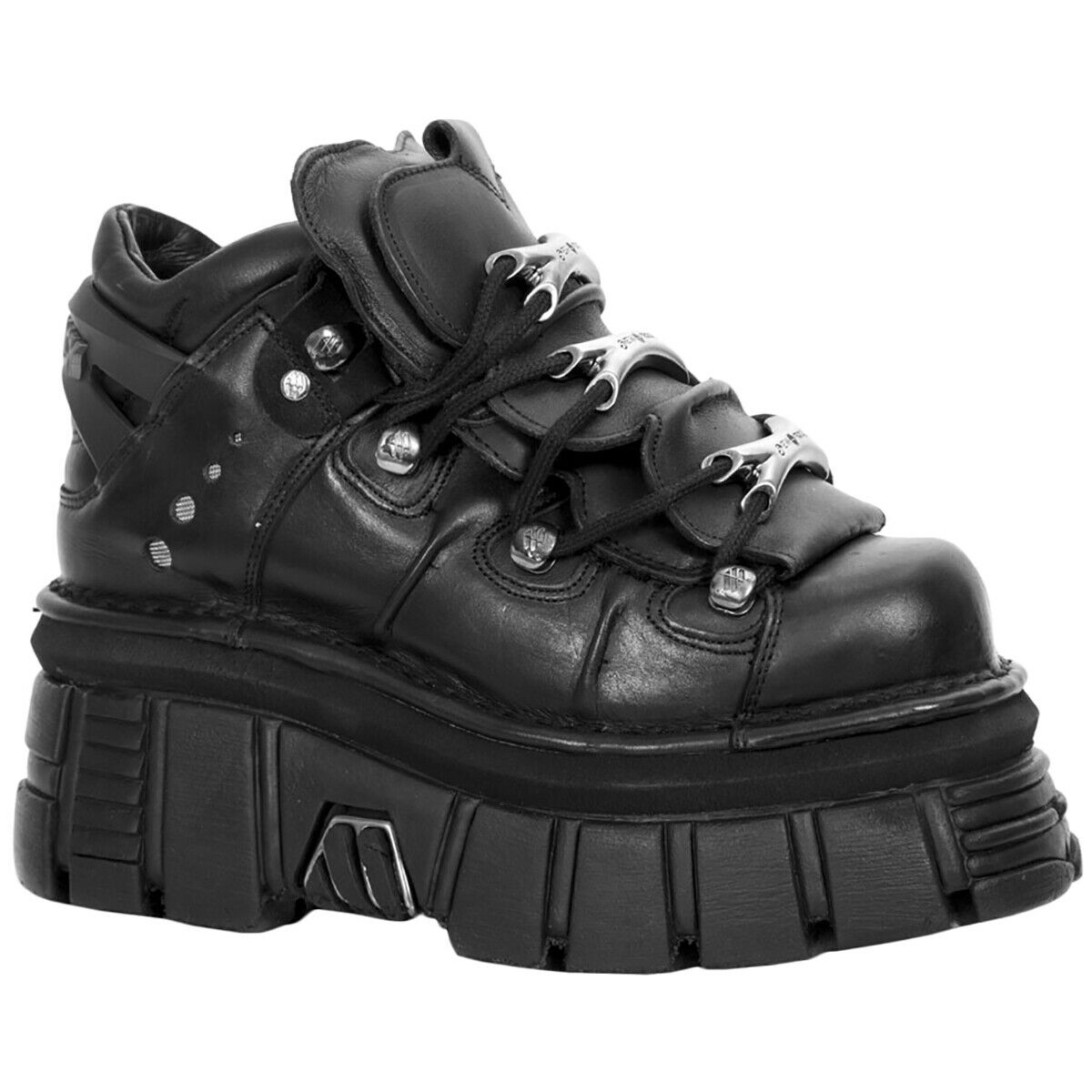 New Rock M-106-S29 Leather Lace-Up Chunky Platform Womens shoes