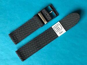 Eulit-Perlon-Uhrenarmband-Modell-Eulit-Palma-Pacific-grau-22-mm-Band-Uhrband