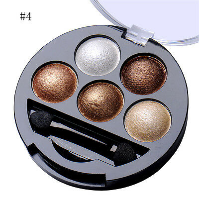 Shimmer Glitter Eye Shadow Powder Palette Metallic Eyeshadow Cosmetics Makeup @#