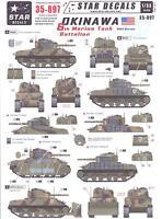 Star Decals 1/35 U.s. 6th Marine Tank Battalion On Okinawa