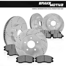 Front and Rear Premium Brake Rotors And Metallic Pads 2003 - 2008 BMW Z4