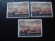 IRLANDE - timbre yvert et tellier n° 483 x3 obl (A33) stamp ireland