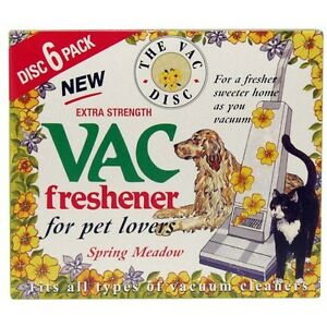 PACK-OF-6-VACUUM-FRESHENERS-EXTRA-STRENGTH-PET-LOVERS-SPRING-MEADOW-ODOUR-SMELL