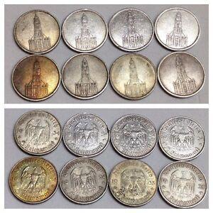 8 Stück Silbermünzen 5 Reichsmark Münze 1934 1935 Hindenburg Ebay