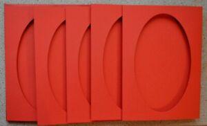 5-Doble-Plegables-Rojo-Tarjetas-en-Blanco-128x178mm-Con-921x153mm-Abertura-Nuevo