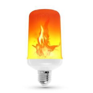 LED Licht E27 Fackel Feuer Lampe Flammen Effekt Glühbirne Flacker Birne 3//4Modi