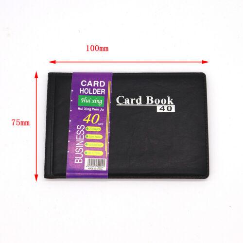 40 Cards Business Name ID Holder Credit Card Travel Book Wallet Folder Organiser