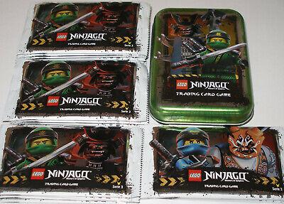Lego Ninjago Serie 3 Specifica Tcg 10 Booster = 50 Carte Da Collezione + Verde Vuota Tin Nuovo-mostra Il Titolo Originale Famoso Per Materie Prime Di Alta Qualità, Gamma Completa Di Specifiche E Dimensioni E Grande Varietà Di Design E Colori