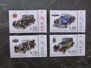 2017-LUXEMBOURG-CARS-OF-YESTERYEAR-SET-OF-4-MINT-STAMPS-MNH