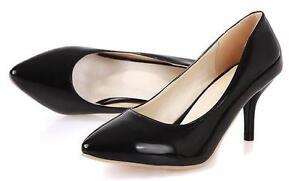Dekollete-Pumps-Schuhe-Stilett-Frau-Schwarz-Farbe-Klassisch-Absatz-7-CM-8622