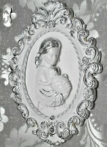 Quadretto Quadro Capezzale Copoletto Barocco Ceramica Madonna Con Bambino Ebay