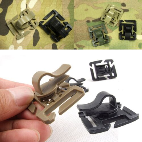 1//3//6X EDC Drink Tube Clip Gear Water Pipe Hose Clamp Backpack Outdoor Carabiner