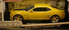 JADA 1:18 SCALE DIECAST METAL BIG TIME CUSTOMS YELLOW 2010 CHEVROLET CAMARO SS