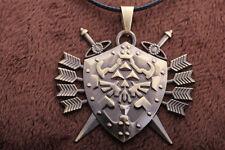 Legend of Zelda Link Hylian Shield Links Logo Metal Necklace / Pendant +chain AD