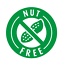 NUT FREE FOOD ROUND LABELS CIRCLE STICKERS MATT GLOSS CLEAR TRANSPARENT NF1