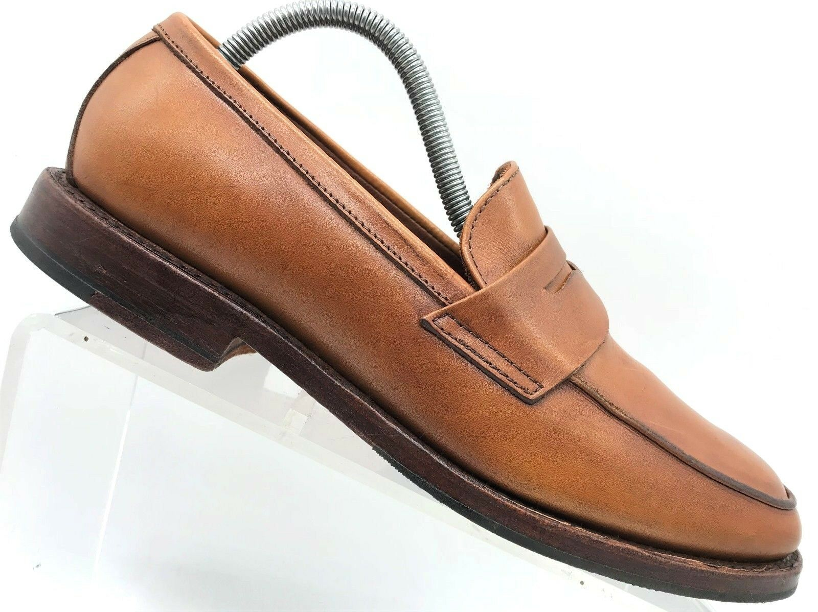 Brooks Bredhers Brown Leather Slip On Penny Loafers Men's shoes 8 D