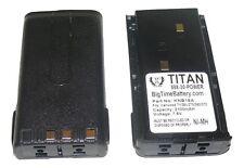 2x 2100mAh KNB-15A Battery for KENWOOD TK260G TK360G TK272G TK372G TK2100 TK3100