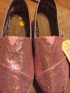 c1744349dabf Toms Classics Lilac Pink Glitter Kids Girls US Youth Shoes Size 5 | eBay