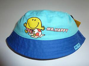 d61adea0c31 Image is loading Really-Cute-Little-MR-HAPPY-Blue-Fisherman-Hat-