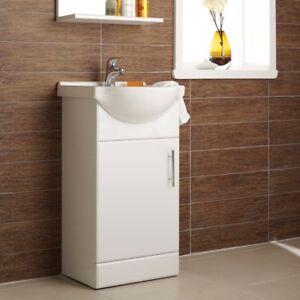 Gloss-White-450mm-Bathroom-Vanity-Storage-Cabinet-Basin-Sink-Unit-Single-Door