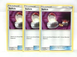 3x-Interrupteur-132-149-Pokemon-Sun-amp-Moon-Base-Ensemble-Trainer-Carte-NM