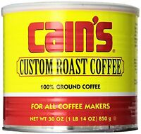 Cain's Custom Roast Coffee 30 Oz. Can, New, Free Shipping on Sale