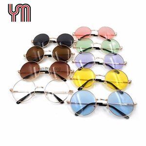 Hippie Sunglasses Golden Frame Round Glasses Shades Lennon Ozzy 60s 70s Vintage